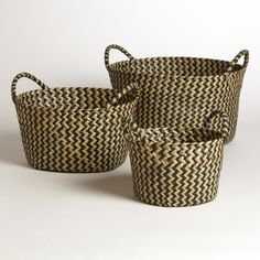 Black and White Round Michelle Baskets | World Market