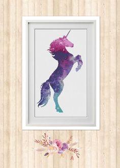 Galaxy Unicorn Cross Stitch Pattern