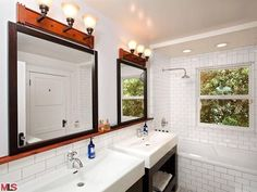 Bathroom Inspiration - love the sinks!