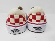 3e10738dbde VANS CLASSIC SLIP ON CHECKERBOARD WHITE RED SKATE MEN S SIZE 3.5 WOMEN S 5  NWOB  fashion  clothing  shoes  accessories  mensshoes  athleticshoes (ebay  link)