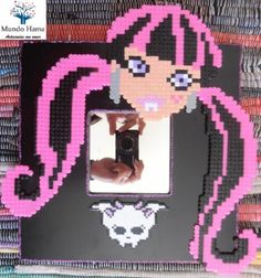 Espejo Draculaura Monster High hama beads by Mundo Hama