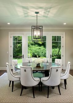 The Zhush: House Tour: Stonebrook Beautiful Interiors, Beautiful Homes, Dining Room Table, Dining Rooms, Dining Room Inspiration, Interior Exterior, Other Rooms, Modern Interior Design, Fine Dining