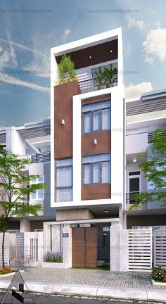 job on Behance Modern Small House Design, Modern Villa Design, Bungalow House Design, House Front Design, Facade Design, Architecture Design, Modern Bungalow Exterior, Casa Loft, Home Building Design