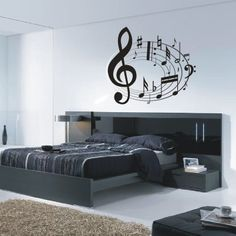 Love the bed, not so much the music notes on the wall (just not my style, love music, just not that much)