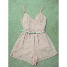 Peach Lace Romper A cute floral laced romper with padded bra best suited for sizes 0-2. Never been worn. Came from a smoke and dog free home. Dresses