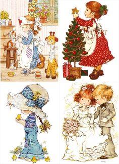 Sara Kay, Holly Hobbie, Cute Art, Christmas Diy, Illustrations, Zip, Pictures, Vintage, Beautiful