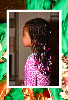 I love Blue Ivy's hair and bead selections. Such a beautiful style.