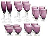 Elegant Lines Purple Glasses Sets