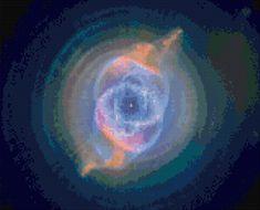 Cross stitch pattern Cats Eye Nebula Hubble by HeritageCharts