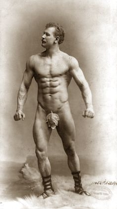 Eugen Sandow, Late 1800s Strongman.  Considered, Physically, the WORLDS Perfect Man (body) His body was cast for study,  Arnold Schwaznager Purchased the Life Size Cast along with other Eugene Sandow Memorabilia.