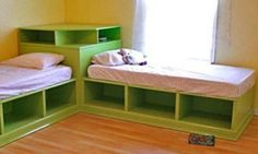 Corner Unit for the Twin Storage Bed. This is looks awesome. Not sure if I'm motivated enough...