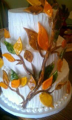 Fabulous Fall Wedding Cake