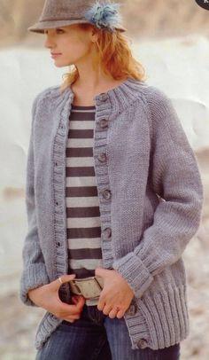 Knitting Pattern Ladies/Women Easy Knit Chunky Cardigan/Jacket