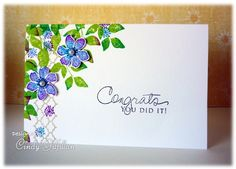 Congrats Wildflowers by frenziedstamper - Cards and Paper Crafts at Splitcoaststampers