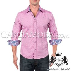 Camisa Michael & David Luxury Menswear MD-726-Pink