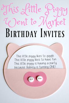 Birthday Party: This Little Piggy Went to Market - This Little Home of Mine