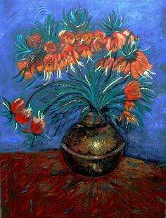 I'm a fan of Van Gogh and really like this beautiful painting by a local artist in Grenada. MS.