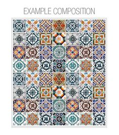 Portuguese Tiles Patterns 48 Tiles Decals Tile by homeartstickers