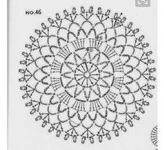 from Crochet motif Crochet Doily Diagram, Crochet Motif Patterns, Chunky Knitting Patterns, Crochet Lace Edging, Crochet Wool, Crochet Chart, Crochet Squares, Thread Crochet, Crochet Doilies