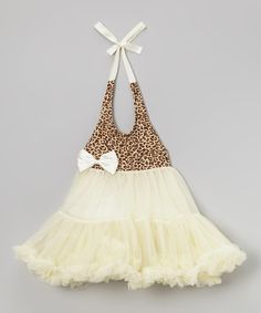 Cream Leopard Chiffon Dress - Infant, Toddler & Girls by Wenchoice #zulily #zulilyfinds