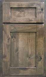 Knotty Alder Paneling gray | Knotty alder door style