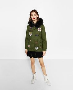 Image 1 of PATCH PARKA COAT from Zara