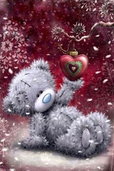 Lovely Wife Me to You Bear Christmas Card Tatty Teddy, Christmas Paintings, Christmas Art, Vintage Christmas, Urso Bear, Teddy Bear Quotes, Teddy Bear Pictures, Blue Nose Friends, Christmas Teddy Bear