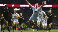 Chris Ashton scores England's second try