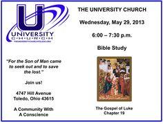 Bible study on May 29, 2013.