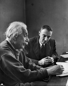 """""""Einstein brought to the work of originality deep elements of tradition. It is only possible to discover in part how he came by it, by following his reading, his friendships, the meager record that we have. """" -Robert Oppenheimer pictured with his friend Alfred Einstein (P: 1947 by Alfred Eisenstaedt, LIFE) Surplus reading on the friendship."""