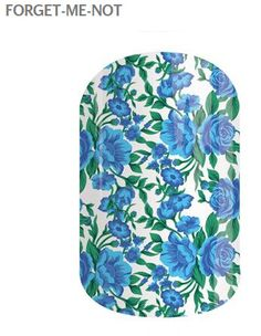 NEW Jamberry Nail Wrap just released! http://www.paintitred.jamberrynails.net/search/forgetmenot