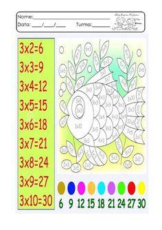 Espaço Professor: Multiplicação divertida. Atividades de multiplicação. Fatos da multiplicação Free Multiplication Worksheets, 3rd Grade Math Worksheets, 2nd Grade Math, Creative Activities For Kids, Math For Kids, Math Activities, Preschool Assessment, Math Test, Math Classroom