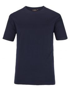 Übergröße: Bradford, Basic-T-Shirt in Marine für Herren