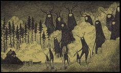John Kenn est né au Danemark, il écrit et dirige des émissions de télévision pour enfants, mais à ses heures perdues, il dessine sur des Post-it un univers enfantin lugubre remplis de monstres gigantesques et de formes inquiétantes.