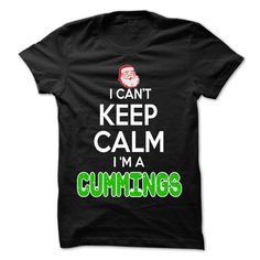Keep Calm CUMMINGS... Christmas Time - 0399 Cool Name Shirt !