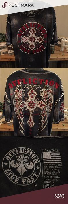Affliction - LIVE FAST - 2XL T-Shirt 2XL - Excellent Condition Affliction Shirts Tees - Short Sleeve
