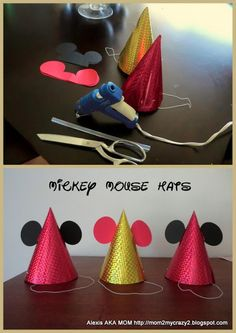 Mickey Mouse Party ... Mickey Mouse Party Hats Minnie Y Mickey Mouse, Mickey Mouse Clubhouse Party, Mickey Party, Mickey Mouse Parties, Fiesta Mickey, Mickey Mouse Birthday, Party Hats, 2nd Birthday Parties, Birthday Ideas