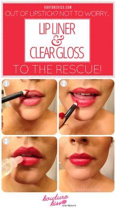 Tuto pour les lèvres.