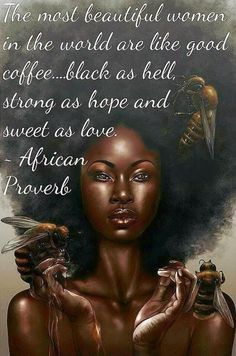 Black is beautiful! Black Girl Art, Black Girl Magic, Black Child, Black Girls Rock, Black Women Quotes, Moda Afro, Black Art Pictures, Black Love Images, African Proverb