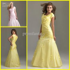 Wholesale 2013 Scoop Neckline Short Sleeves Pleated Taffeta Trumpet Dresses Beaded Floral Quinceanera Dresses, Free shipping, $150.13/Piece   DHgate