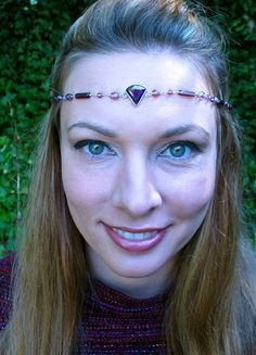 Beaded Headpiece with Cubic Zirconia by SpiritoftheGoddess on Etsy, $42.00