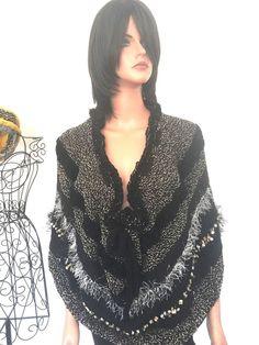 Hand Knits 2 Love Shawl Wrap Poncho Caplet  Designer Fashion Hip Chic Women   | eBay