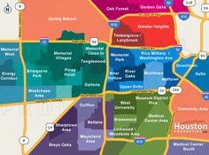 Map of Neighborhoods in Houston, Texas