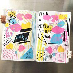 Bullet Journal Notebook, Bullet Journal Aesthetic, Bullet Journal School, Bullet Journal Inspo, Bullet Journal Spread, Bullet Journal Ideas Pages, Posca Art, Wreck This Journal, Scrapbook Journal