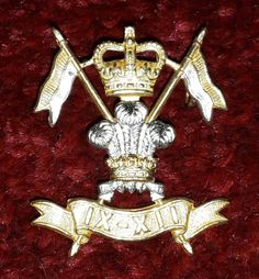 9th-12th Royal Lancers Officers Silver and Gilt cap badge