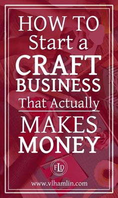 Ever wondered how to start a craft business? This post is for you – it's packed full of tips and tricks to help you start a craft business today! Do you love to make crafts? Could you spend hours u… Etsy Business, Craft Business, Home Based Business, Business Tips, Finance Business, Online Business, Business Opportunities, Home Business Ideas, Business Inspiration