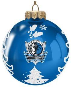 Memory Company Dallas Mavericks Glass Christmas Tree Ornament - Blue