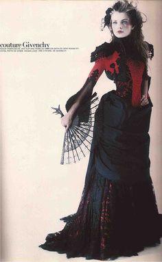Esther Cañadas in Givenchy HC by Christophe Cufos (Vogue Paris sept. 1997)