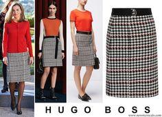 30-11-2017 koningin letizia HUGO BOSS Vulnona Skirt