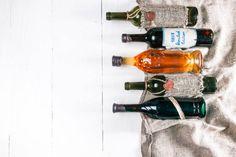 wine menu background in rustic style